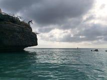 Cliff Jumping Stockfotografie