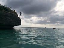 Cliff Jumping Lizenzfreie Stockfotos