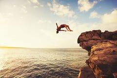 Cliff Jumping Photos libres de droits