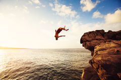 Cliff Jumping lizenzfreies stockbild