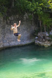 Cliff Jumping Fun Royalty Free Stock Images
