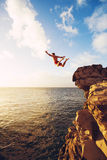 Cliff Jumping stock photo