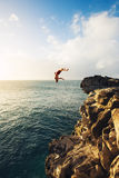 Cliff Jumping stock image