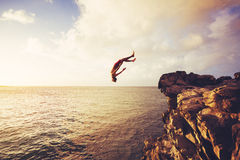 Cliff Jumping Royalty Free Stock Image