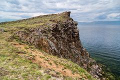 Cliff, Lake Baikal in Russia Stock Photo