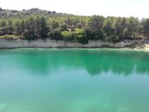 Cliff Lake stock photography