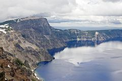 A cliff and lake view Stock Image