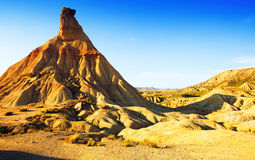 Cliff at landscape of bardenas reales natural park Royalty Free Stock Photography