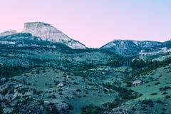 Cliff Landscape que se inclina | Bighorn Imagen de archivo libre de regalías