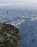 Cliff Ledge, Mountain Range Illustration Royalty Free Stock Photo