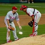Cliff Lee and Carlos Ruiz Philadelphia Phillies Stock Images