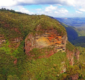Cliff, Leura,BlueMountains Royalty Free Stock Photography