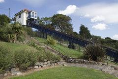 Cliff Lift and Gardens, Southend-on-Sea, Essex, England. Victorian cliff lift and gardens at Southend-on-Sea,  Essex, England Royalty Free Stock Images