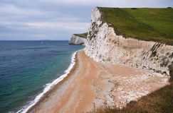Cliff line in Dorset. Cliff line near Durdle Door, Dorset, England Stock Photography