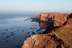 Cliff line of Heligoland Stock Images