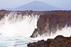 Cliff line at Los Hervideros, Lanzarote Stock Photo
