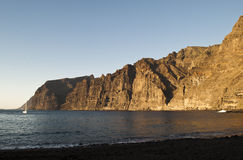 Cliff los Gigantes in Tenerife Royalty Free Stock Image
