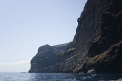 Cliff of Los Gigantes, Tenerife, Canary Islands Stock Images