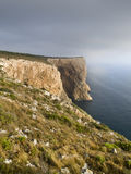 Cliff on the Mediterranean Sea Royalty Free Stock Photography