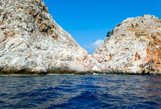Cliff in Mediterranean sea, Turkey Royalty Free Stock Image