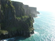 Cliff of Moher. A tall cliff on the west coast of Ireland, county Clare stock photos