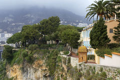 Cliff of Monaco Stock Image