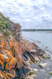 Cliff of Mont Saint Michel Stock Photography