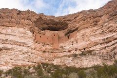 Cliff of Montezuma Castle Stock Photos