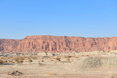Cliff, Moon Valley, San Juan, Argentina. Stock Image