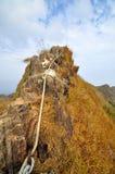 Cliff on Mountain ridge Royalty Free Stock Image