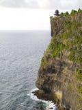 Cliff Mountain Sea Skyline. View of a mountain cliff with sea royalty free stock photos