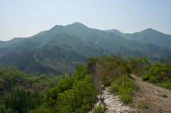 Cliff at Mountain. Which is part of the Great Wall Stock Image