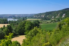 Cliff in nature reserve of seine hill stock images