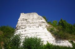 Cliff in nature reserve of seine hills stock images