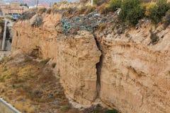 Cliff Nature Surface Backdrop mediterrâneo fotografia de stock royalty free