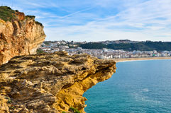 Cliff in Nazare, Portugal Stock Image