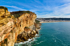 Cliff in Nazare, Portugal Royalty Free Stock Photos