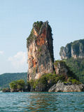 Cliff near Railay Beach. Royalty Free Stock Photos
