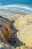 Cliff near San Diego Pacific coast, California Royalty Free Stock Photos