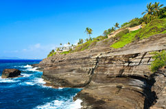 Cliff Near Spitting Cave of Portlock, Oahu Royalty Free Stock Photo