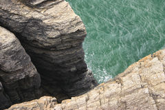 Cliff in Normandie Stock Image