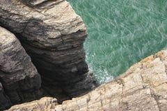 Cliff in Normandie Stock Image