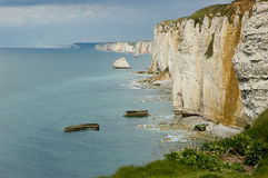 Cliff in normandy Royalty Free Stock Photo