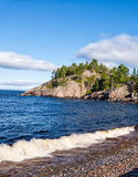 Cliff on north shore of Lake Superior Royalty Free Stock Photography
