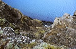 Cliff and ocean Royalty Free Stock Photography