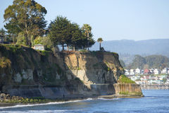 A cliff on the ocean in Capitola California Stock Images