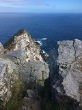 cliff oceanu przeoczyć Fotografia Royalty Free