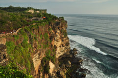 Cliff of Old Uluwatu Temple. Royalty Free Stock Image