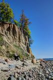 Cliff in Orlowo,Poland Stock Photo