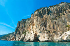 Cliff in Orosei Gulf coastline Royalty Free Stock Images